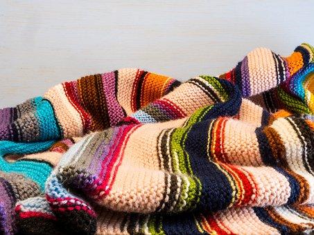 Knitting, Background, Knitted Blanket