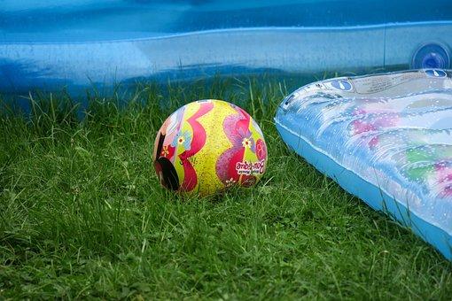 Ball, Play, Air Mattress, Summer, Holidays