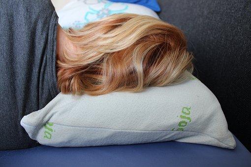 Hair, Pillow, Sleep, Relax, Bedroom, Mattress, Woman
