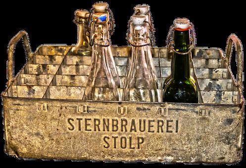 Beer Box, Metal Case, Bottle, Beer Bottles