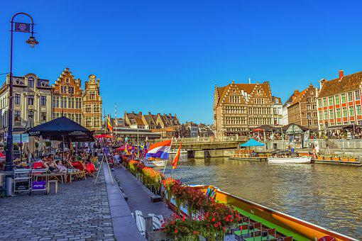 Ghent, Belgium, Architecture, Travel, City, Canal