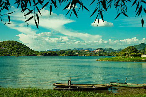 Classical, Scenery, Lake, Boat, Guizhou, Guiyang