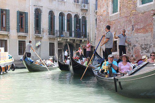 Venice, Gondola, Canal, Boat, Italy, Gondolier, City