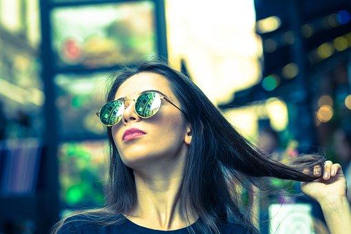 City, Model, Girl, Portrait