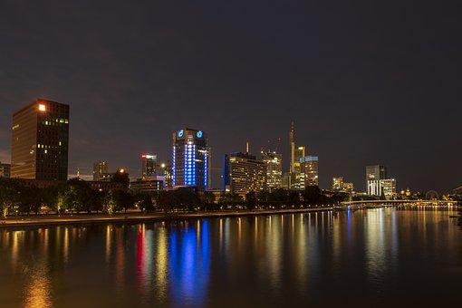 Skyline, Skyscraper, Skyscrapers, City, Water