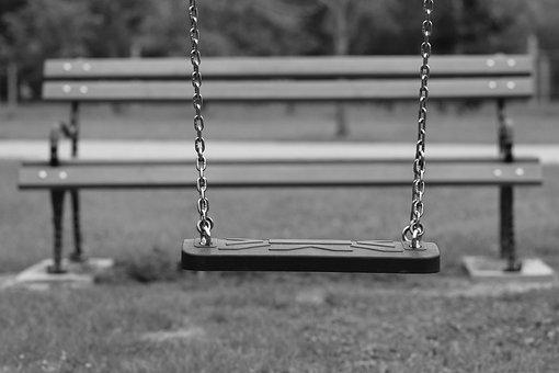 Empty Swing, Bench, Depopulation, Migration