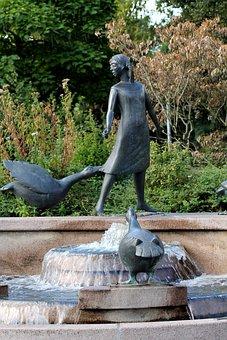 Geese, Goose Girl, Fountain