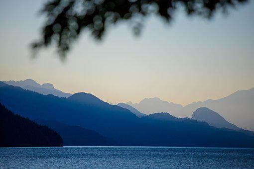 Harrison Lake, Twilight, Sunset, Harrison Hot Springs