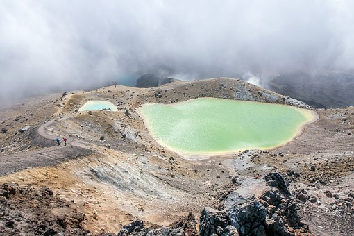 New Zealand, Hiking, Tongariro, Sunny, Volcano