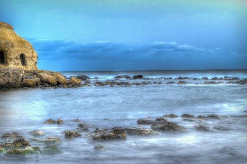 Beach, Blue, Sea, Costa, Marina, Relax, Idyllic