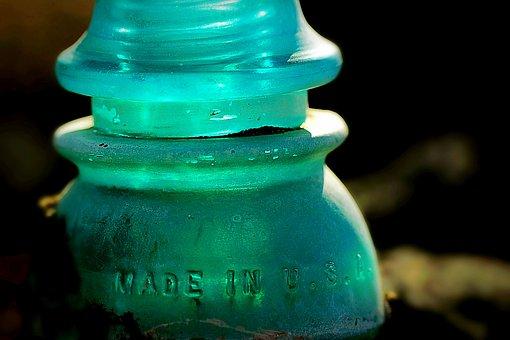 Glass, Electrical, Insulator, Vintage, Antique, Light