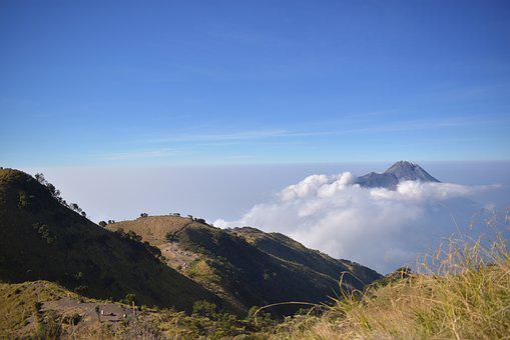 Mountain, Merapi, Indonesia, Volcano, Outdoor, Java