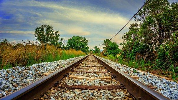 Railway, Material, Pathways, Rails, Iron, Transport