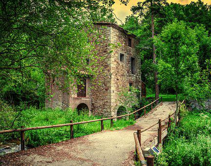 House, Mill, Architecture, Old, Summer, Nostalgia
