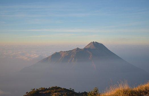 Mountain, Merapi, Indonesia, Java, Volcano, Outdoor