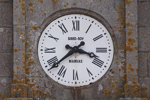 Clock, Time, Dial, Time Of, Pointer, Movement, Antique