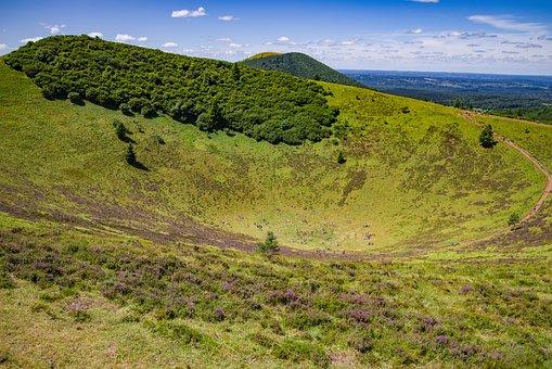 Volcano, Landscape, Countryside, Nature, Puy De Dome