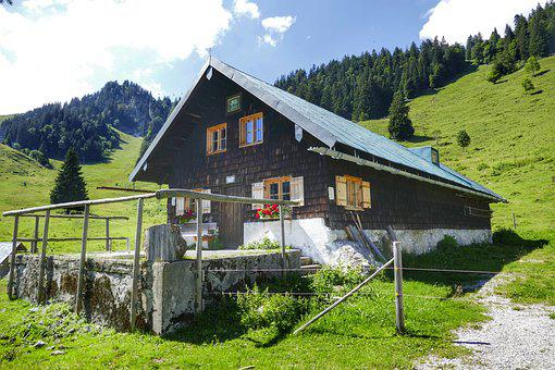 Hut, Alpine Hut, Nature, Mountain Hut, Landscape