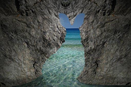 Rabbit, Cave, Island, Summer, Sea, Nature, Beach