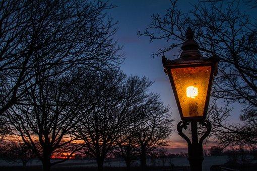 Lamp, Moody, Wonderland, Antique, Lantern, Night
