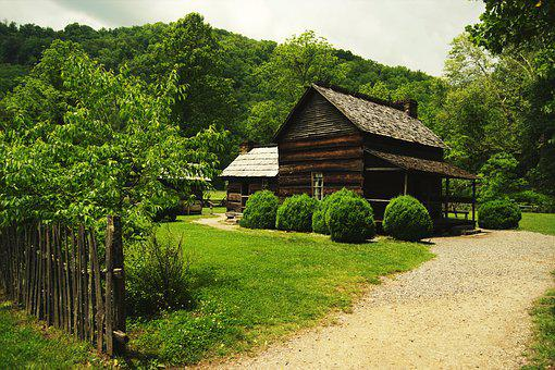 Old Cottage, Mountains, Forest, Old, House, Grass, Wood
