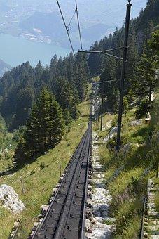 Rails, Rack Railway, Pilatus, Train, Mountain Railway