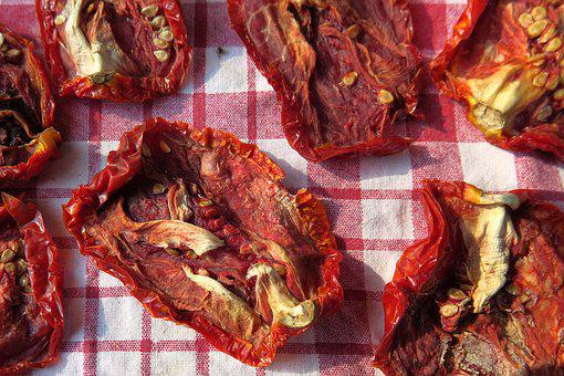 Sun Dried Tomatoes, Red, Eat, Tomatoes, Food, Dried