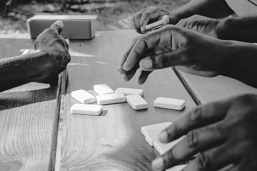 Players Of Dominoes, Relaxation, Amitier
