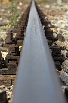 Rail, Railway, Railroad Tracks, Route, Rusted
