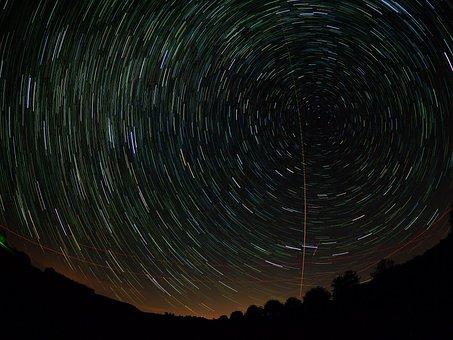 Star Trails, Startrails, Star, Night Sky