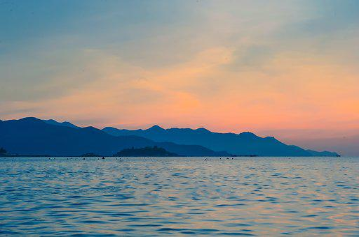 Sea, Beach, Sunrise, Water, Ocean, Vacation, Summer