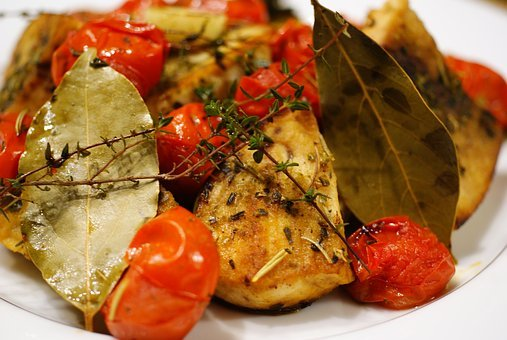 Swordfish And Tomatoes With Herbs Baked In The Oven