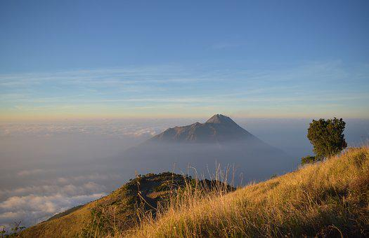 Merapi, Mountain, Indonesia, Java, Volcano, Landscape