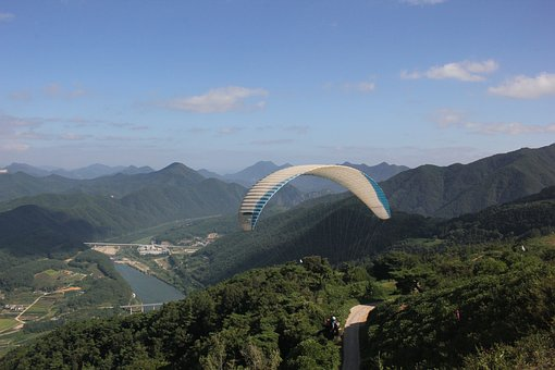 Paragliding, Leisure Sports, Flight, Wind, Nature, Air