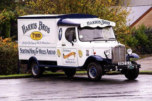 Van, Advertising, Vehicle, Oldtimer, Vintage