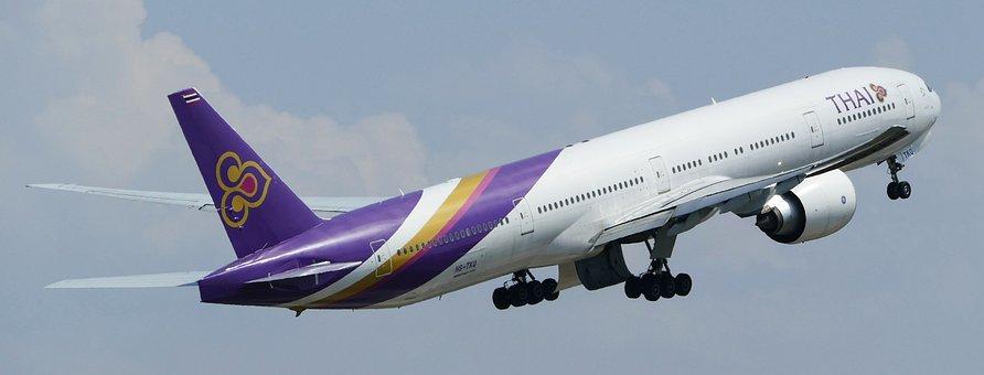 Airport, Zurich, Balls, Thai Air, Lift Off, Start