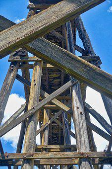 Wooden, Architecture, Trestle, Bridge, Structure