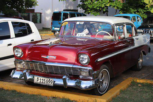 Do Cuba, Varadero, Taxi, Chevrolet, Car, Vintage