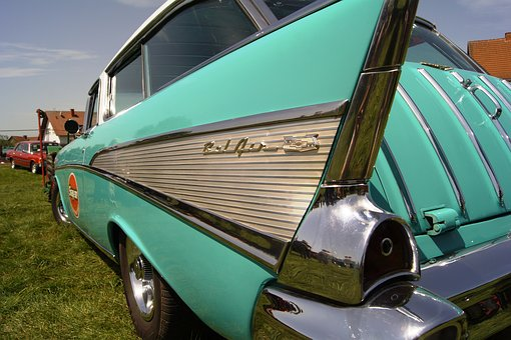 Belair, Classic, Chevrolet, Auto, Oldtimer, Chrome