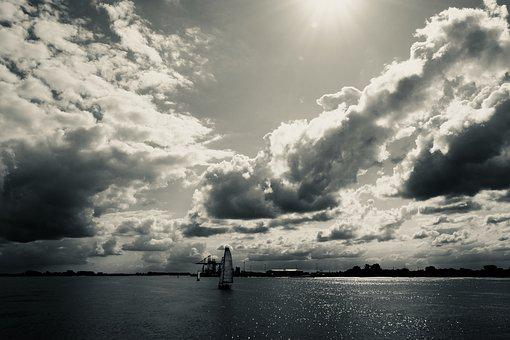 Nature, Sky, Clouds, Water, Mood, Dramatic, Weather