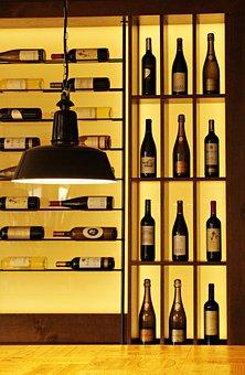 Wine, Wine Bottles, Wine Rack, Shelf, Exhibition