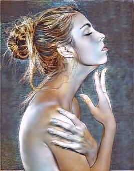 Woman, Girl, Beautiful, Portrait, Fashion, Young, Art