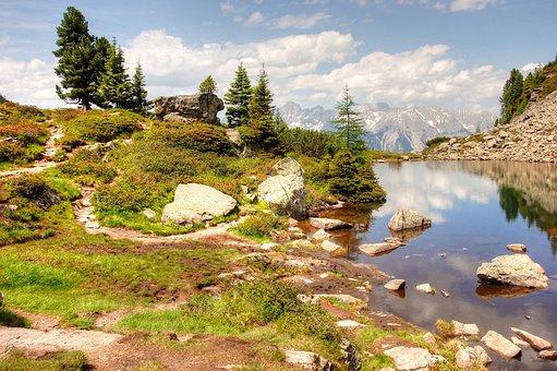 Mirror Lake, Gosausee, Schladming, Austria, Alpine