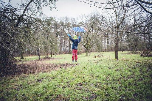 Levitation, Float, Human, Out, Magic, Regenschrim