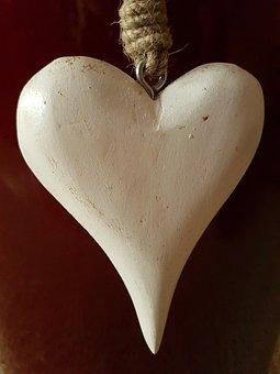 Heart, Wood, Deco, Jewellery