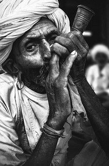 Black White, Man, Old, Elderly Man, Portrait