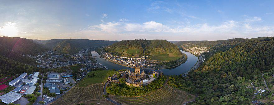 Cochem, Panorama, Mosel, Castle, Imperial Castle