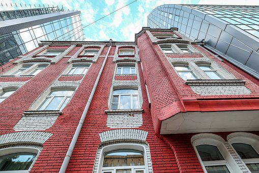 Building, Red, Architecture, City, Facade, Buildings