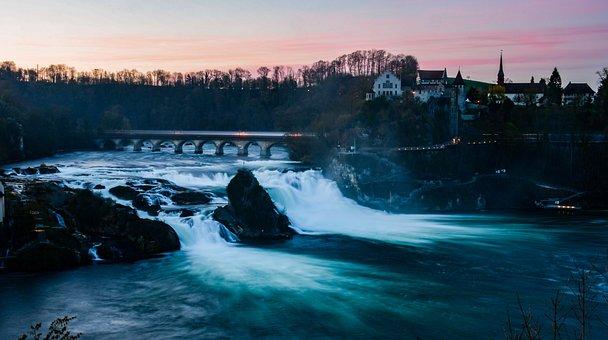 River, Falls, Water, Rhine, Schaffhausen, Landscape