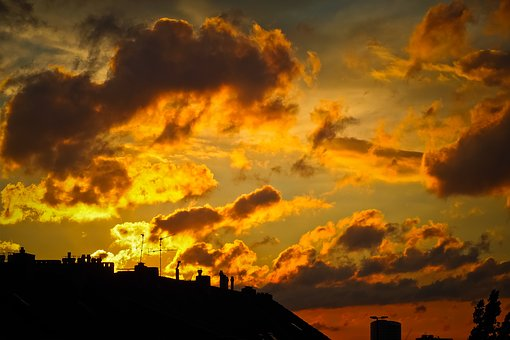 Sky, Clouds, Sunset, Nature, Weather, Mood, Atmosphere